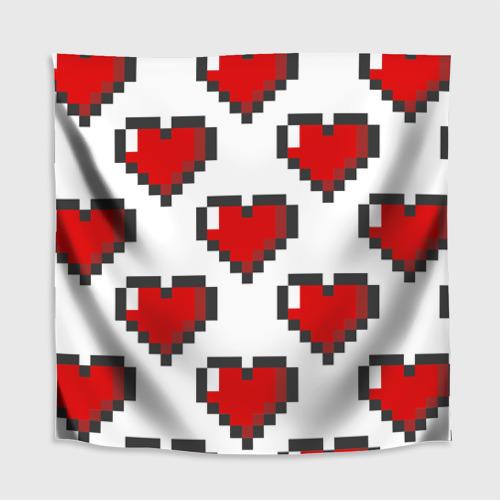 Скатерть 3D  Фото 02, Пиксельные сердечки