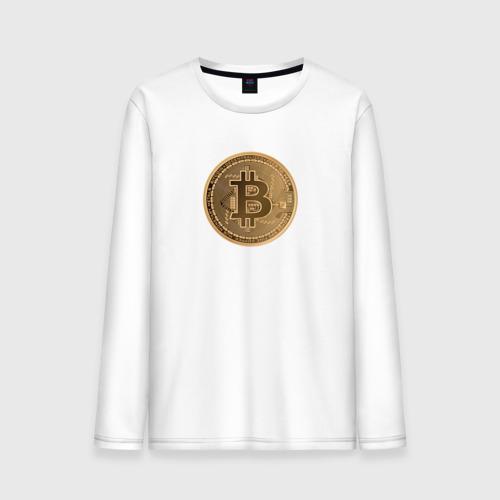 Мужской лонгслив хлопок  Фото 01, Bitcoin