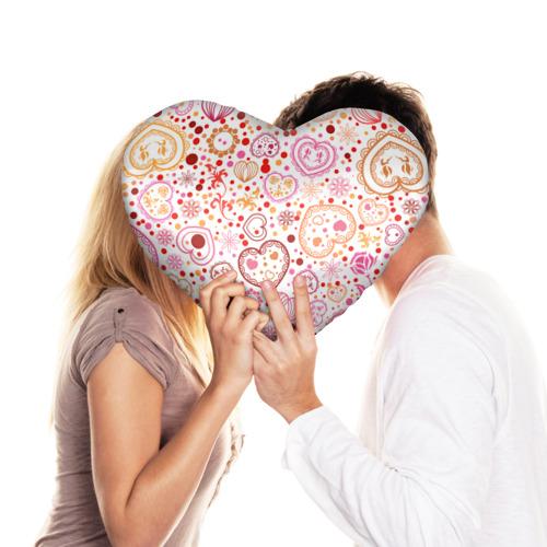 Подушка 3D сердце  Фото 03, Нежность