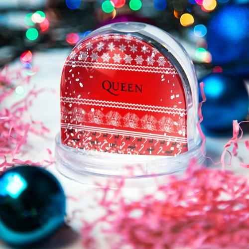 Водяной шар со снегом  Фото 03, Праздничный Queen