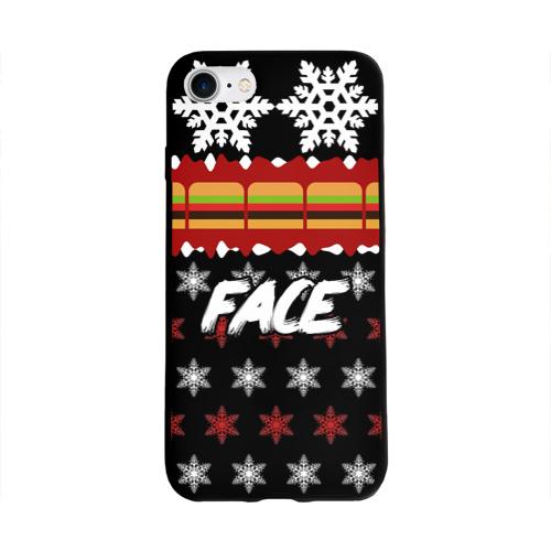 Чехол для Apple iPhone 8 силиконовый глянцевый  Фото 01, Праздничный Face