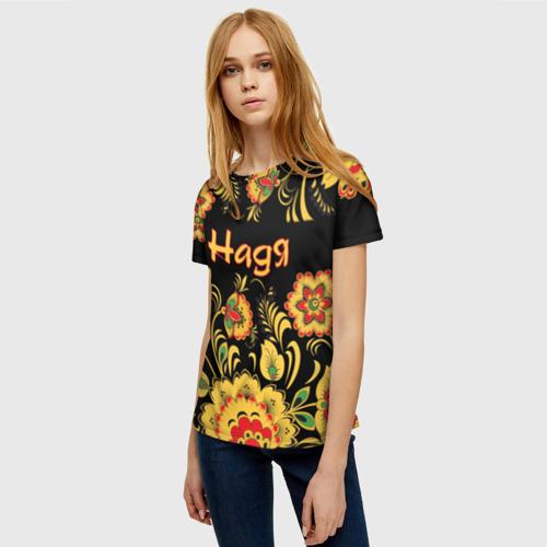 Женская футболка 3D Надя, роспись под хохлому Фото 01