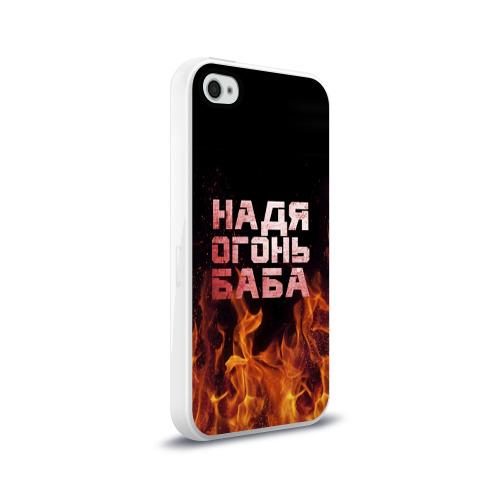 Чехол для Apple iPhone 4/4S силиконовый глянцевый  Фото 02, Надя огонь баба