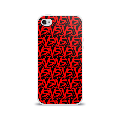 Чехол для Apple iPhone 4/4S силиконовый глянцевый VERSUS BATTLE RED Фото 01