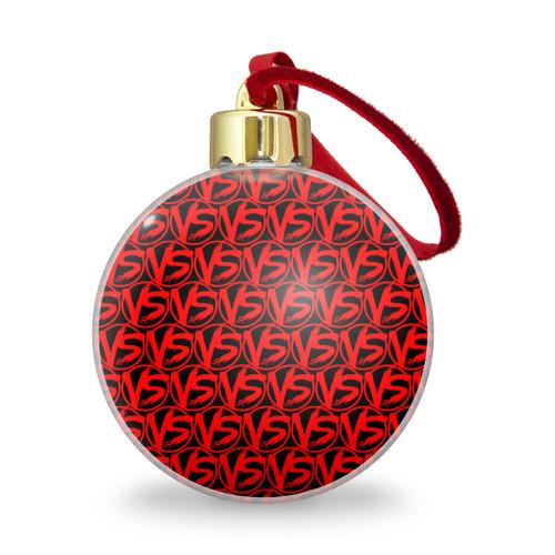 Ёлочный шар с блестками  Фото 01, VERSUS BATTLE RED