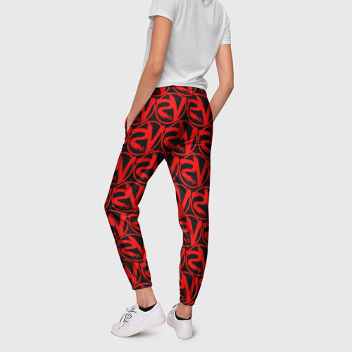 Женские брюки 3D VERSUS BATTLE RED Фото 01