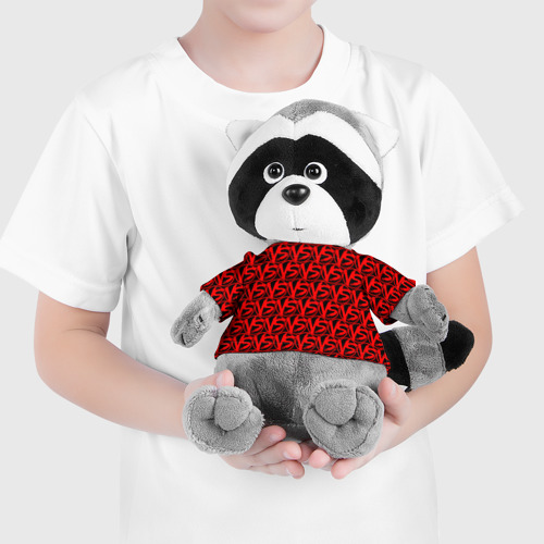 Енотик в футболке 3D VERSUS BATTLE RED Фото 01
