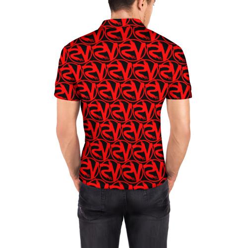 Мужская рубашка поло 3D VERSUS BATTLE RED Фото 01