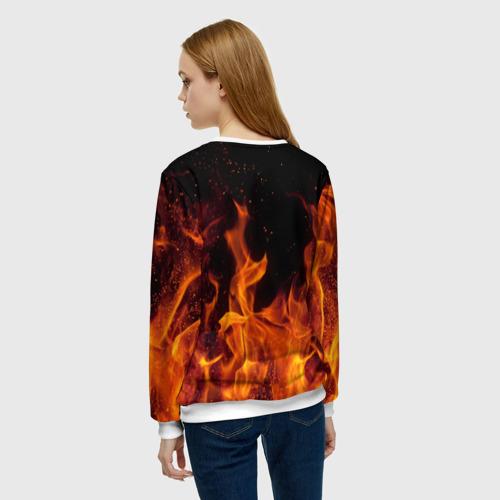 Женский свитшот 3D BITCOIN   FIRE Фото 01