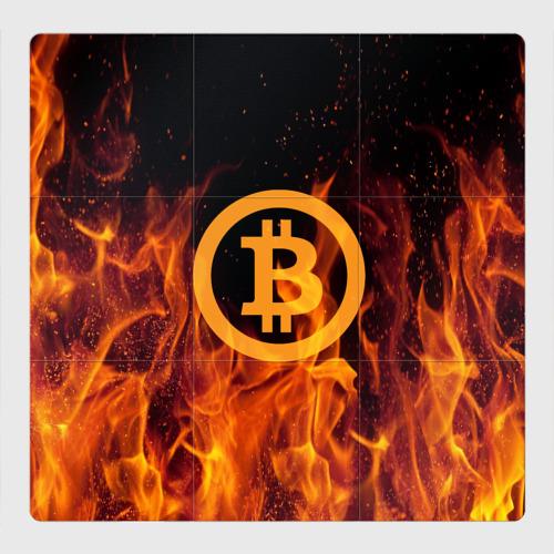 Магнитный плакат 3Х3 BITCOIN   FIRE Фото 01
