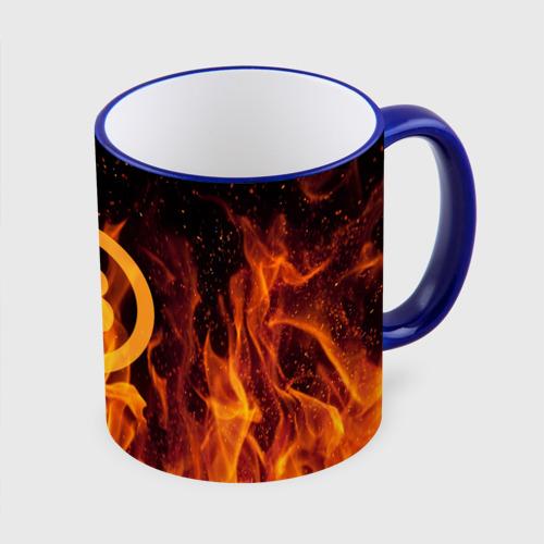 Кружка с полной запечаткой BITCOIN   FIRE Фото 01