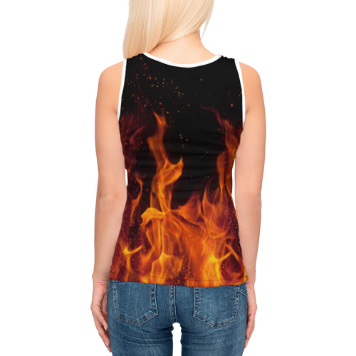 Женская майка 3D BITCOIN   FIRE Фото 01
