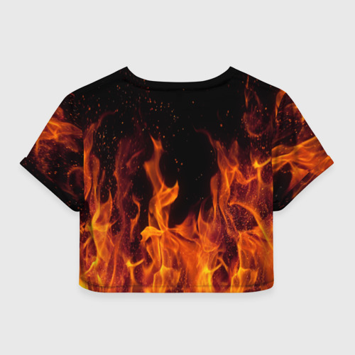 Женская футболка Crop-top 3D BITCOIN   FIRE Фото 01