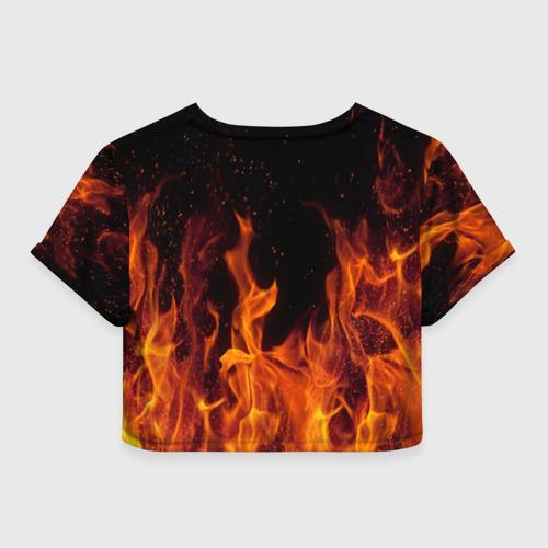 Женская футболка Cropp-top BITCOIN   FIRE Фото 01