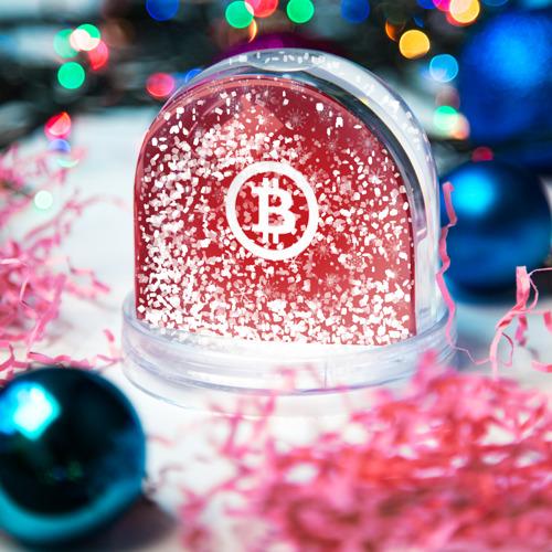 Водяной шар со снегом  Фото 04, BITCOIN Новогодний