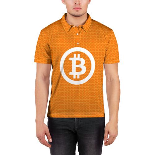Мужская рубашка поло 3D BITCOIN