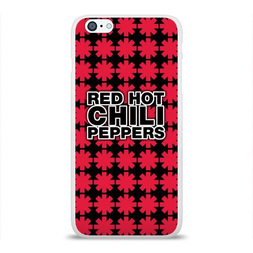 Чехол для Apple iPhone 6Plus/6SPlus силиконовый глянцевый  Фото 01, Red Hot Chili Peppers