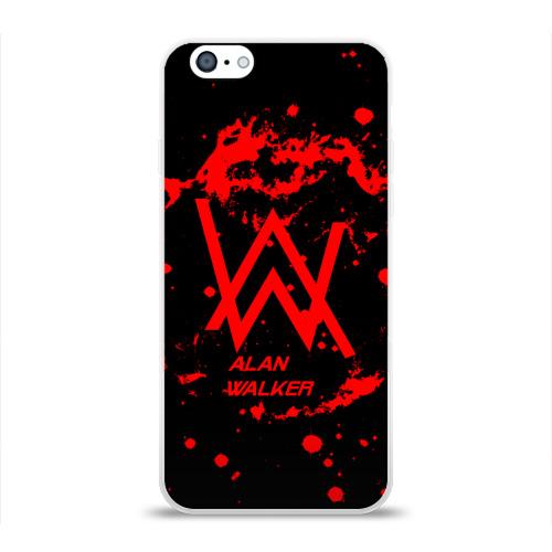 Чехол для Apple iPhone 6 силиконовый глянцевый Alan Walker music space