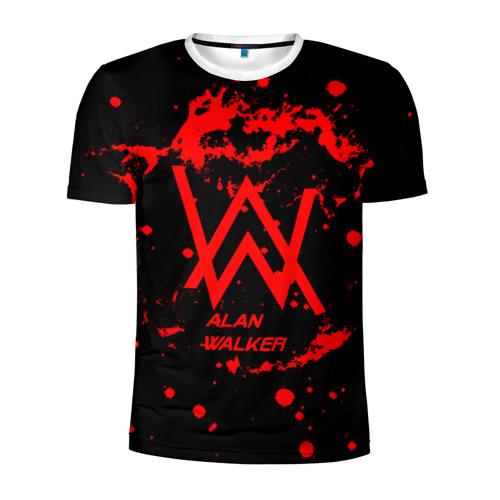 Мужская футболка 3D спортивная Alan Walker music space