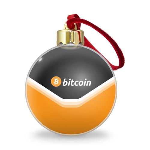 Ёлочный шар с блестками  Фото 01, BITCOIN