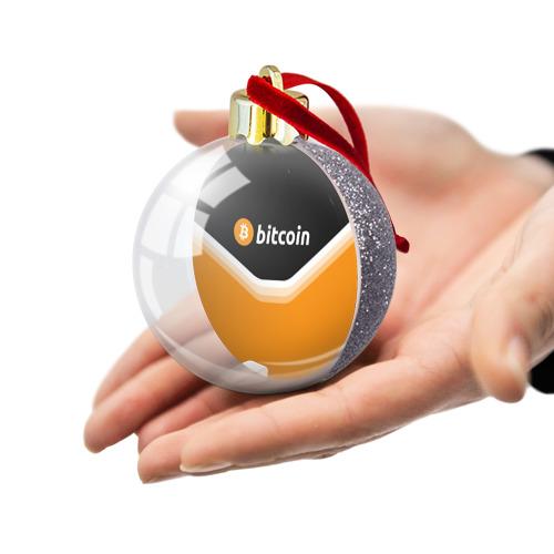 Ёлочный шар с блестками  Фото 03, BITCOIN