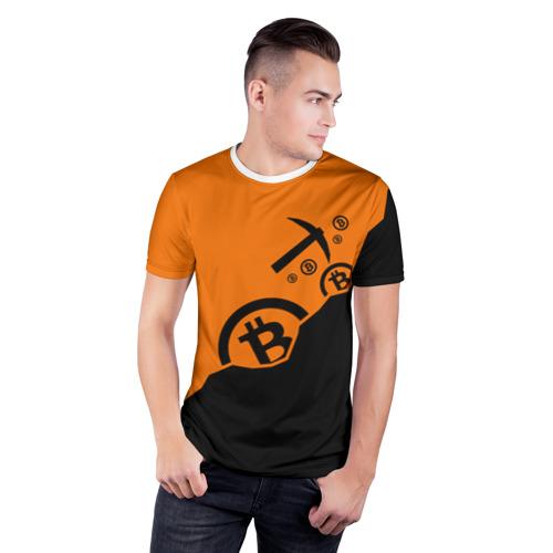 Мужская футболка 3D спортивная  Фото 03, BITCOIN MINER