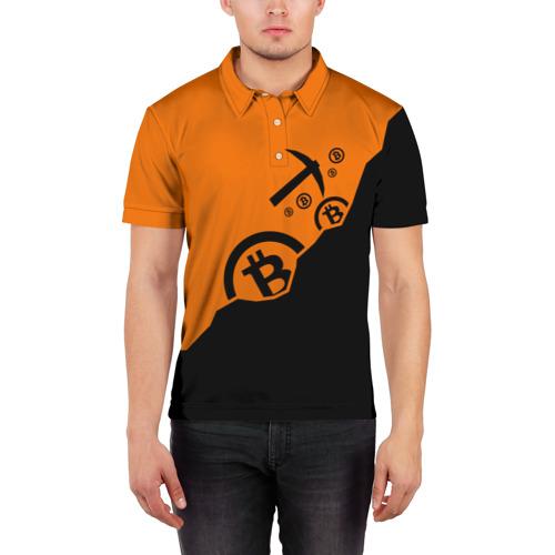 Мужская рубашка поло 3D  Фото 03, BITCOIN MINER