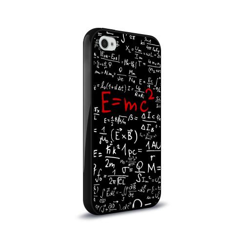Чехол для Apple iPhone 4/4S силиконовый глянцевый  Фото 02, Формулы E=mc2