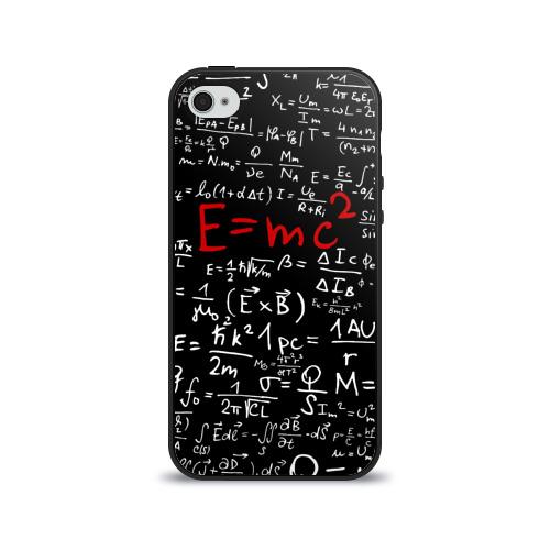 Чехол для Apple iPhone 4/4S силиконовый глянцевый  Фото 01, Формулы E=mc2