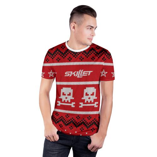 Мужская футболка 3D спортивная  Фото 03, Новый год Skillet