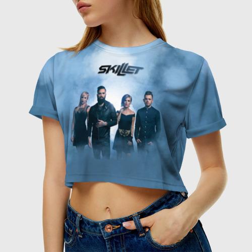 Женская футболка 3D укороченная  Фото 01, Smoke
