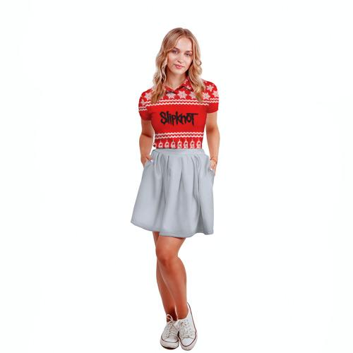 Женская рубашка поло 3D  Фото 04, Праздничный Slipknot