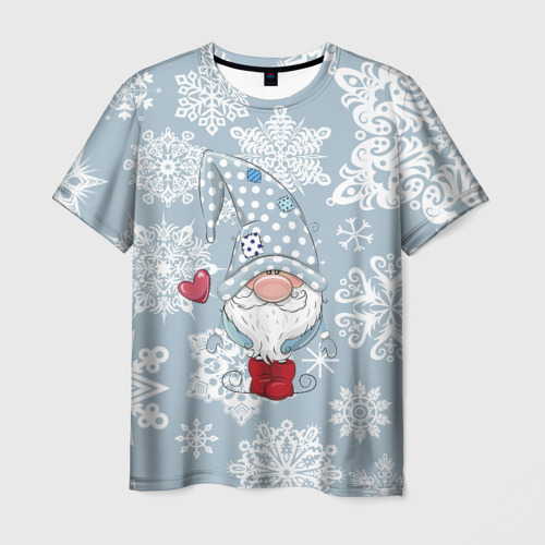 Мужская футболка 3D  Фото 01, Милый гномик