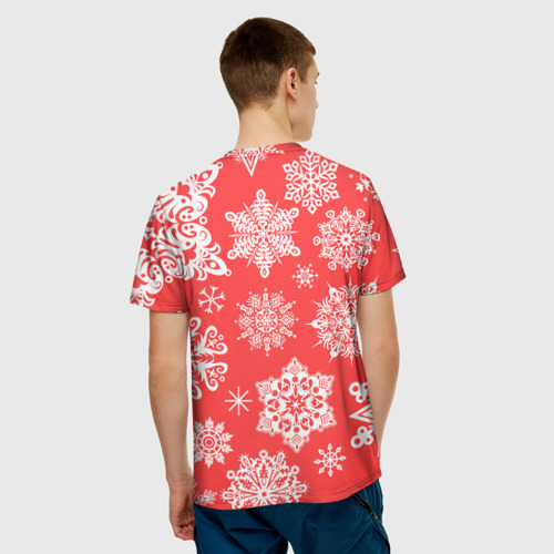 Мужская футболка 3D  Фото 02, Помощник санты