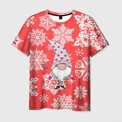 Мужская футболка 3D  Фото 01, Помощник санты