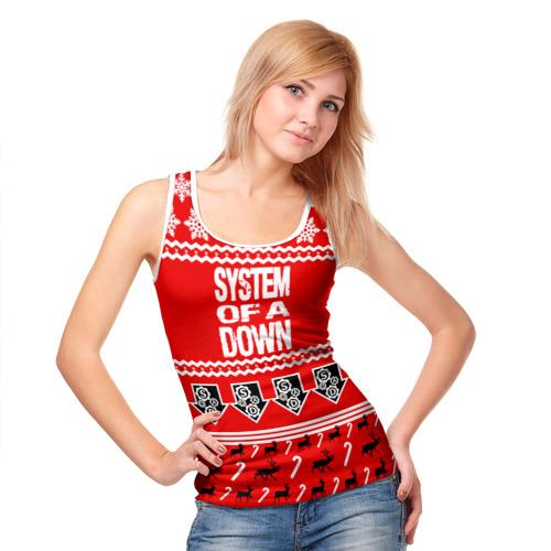Женская майка 3D  Фото 05, Праздничный System of a Down