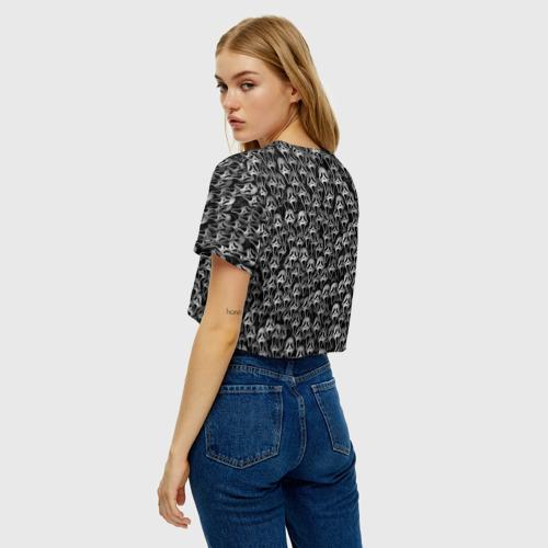 Женская футболка Crop-top 3D Крик Фото 01