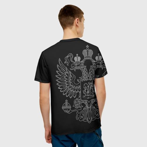 Мужская футболка 3D  Фото 02, Пограничник белый герб РФ