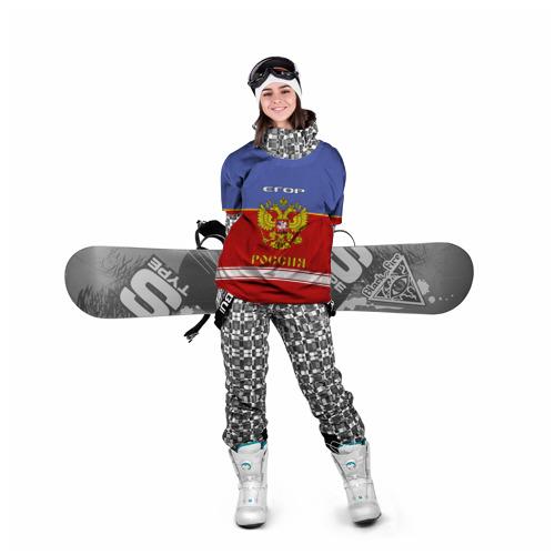 Накидка на куртку 3D Хоккеист Егор Фото 01