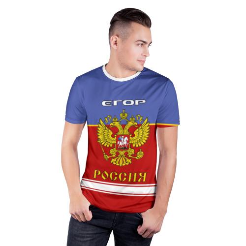 Мужская футболка 3D спортивная  Фото 03, Хоккеист Егор