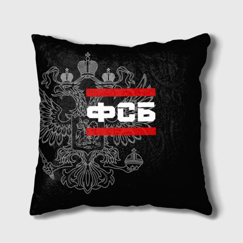 Подушка 3D  Фото 01, ФСБ белый герб РФ
