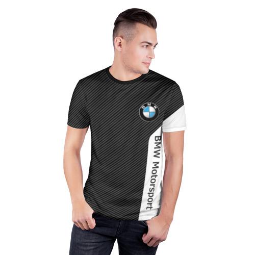 Мужская футболка 3D спортивная BMW CARBON | БМВ КАРБОН Фото 01