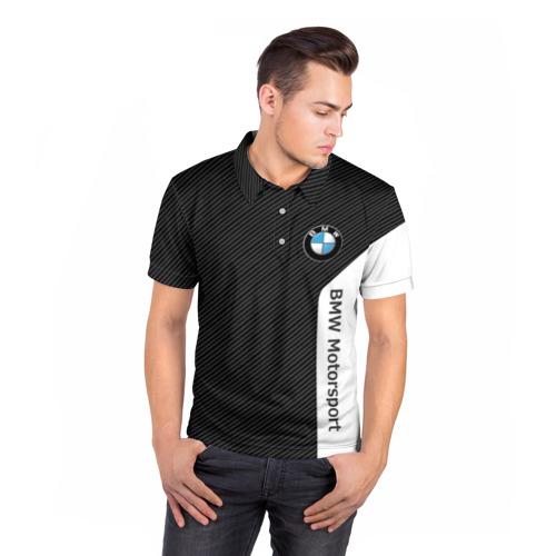 Мужская рубашка поло 3D  Фото 05, BMW Motorsport Carbon