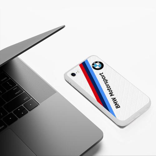 Чехол для iPhone 6/6S матовый BMW MOTORSPORT CARBON   БМВ Фото 01