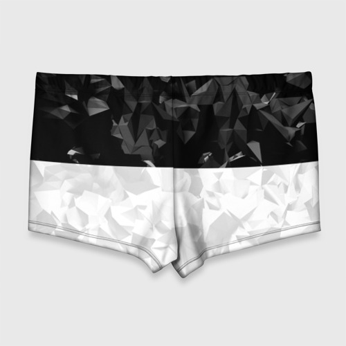 Мужские купальные плавки 3D RUSSIA BLACK X WHITE | РОССИЯ Фото 01