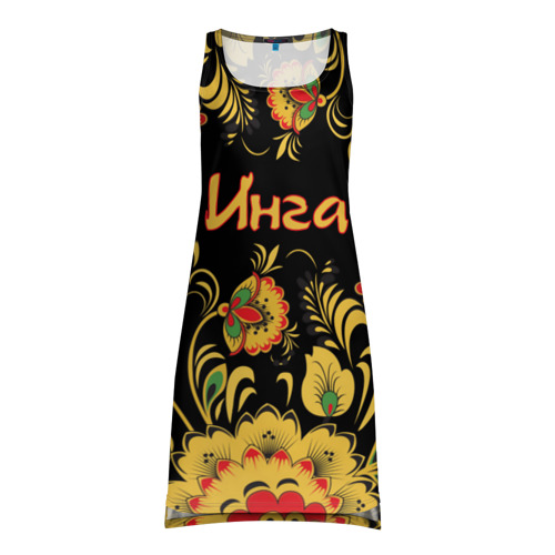 Платье-майка 3D Инга, роспись под хохлому