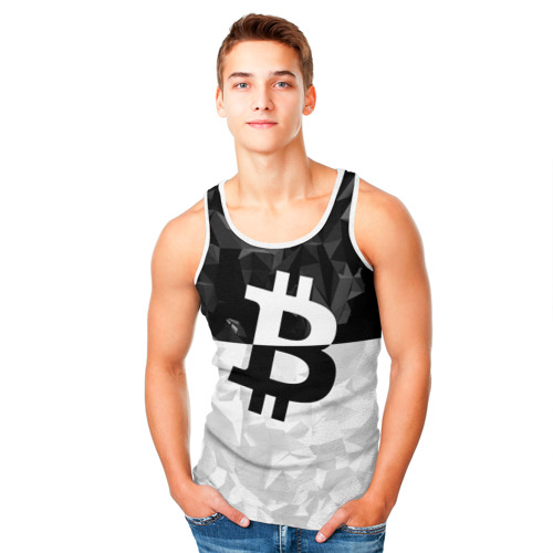 Мужская майка 3D  Фото 05, BITCOIN Black Collection