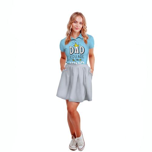 Женская рубашка поло 3D  Фото 04, Мой папа король
