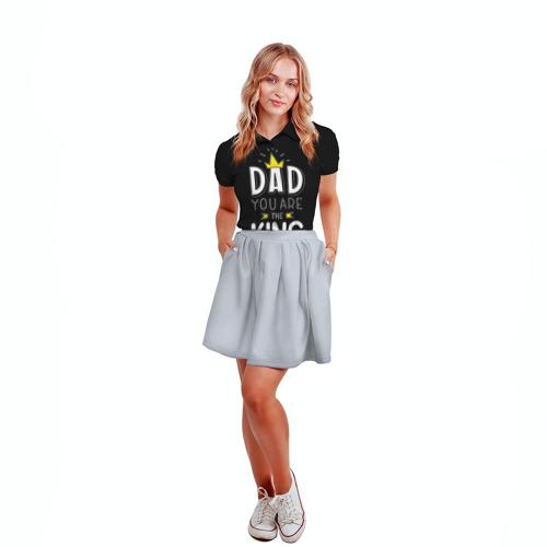 Женская рубашка поло 3D  Фото 04, Папа король