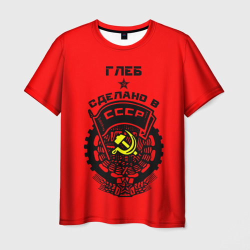 Мужская футболка 3D  Фото 03, Глеб - сделано в СССР